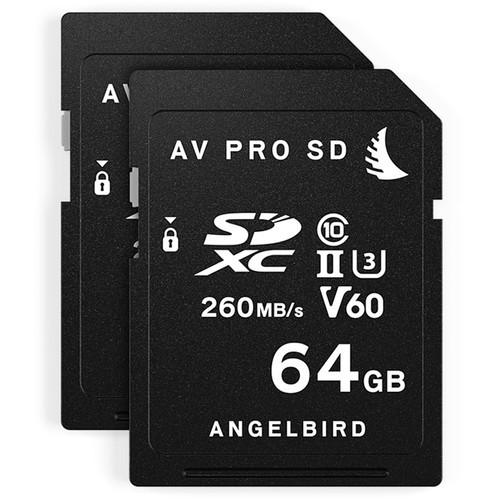 Angelbird 64GB AV Pro MK2 UHS-II SDXC Memory Card (2-Pack)