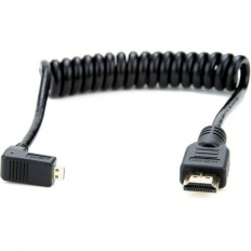 """Atomos Right-Angle Micro-HDMI to HDMI Coiled Cable (11.8 to 17.7"""")"""