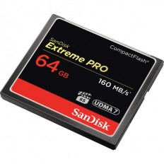 SanDisk 64GB Extreme Pro CompactFlash Memory Card (160MB/s)