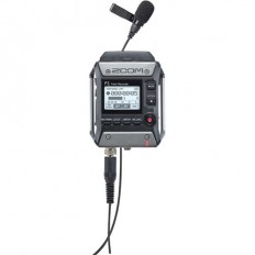 Zoom F1-LP 2-Input / 2-Track Portable Field Recorder with Lavalier Microphone