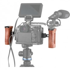 SmallRig Wooden Side Handle with NATO Clamp