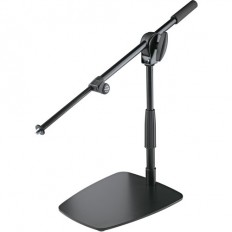 K&M 25993 Compact Floor/Tabletop Microphone Stand with Short Boom