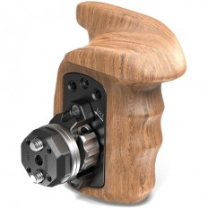 SmallRig Left-Side Wooden Grip with ARRI-Style Rosettes and Bolt-On Mount
