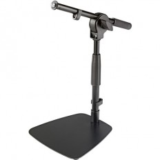 K&M 25995 Floor & Tabletop Microphone Stand with Short Boom (Black)