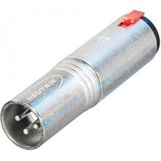 "Neutrik NA3MJ 3-Pole XLR Male to Stereo 1/4"" Locking Jack Adapter (Tip, Ring, Sleeve Contact)"
