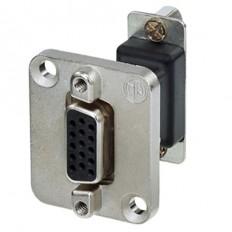 Neutrik 15-Pin D-Sub Female-Female Feed Through Adapter D-Shape Housing (Nickel)