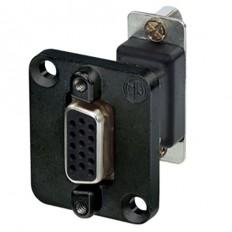 Neutrik 15-Pin D-Sub Female-Female Feed Through Adapter D-Shape Housing (Black)