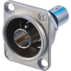 Neutrik Isolated BNC Chassis Connector in D-Shape Housing (Nickel)